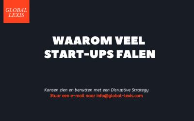 Waarom veel Start-ups falen